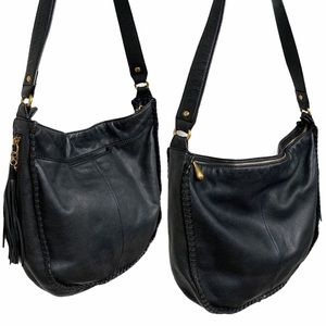 Hobo International Black Whipstitched Leather Bag